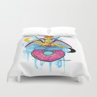 baphomet Duvet Covers featuring Baphomer by Roe Mesquita