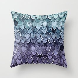 MAGIC MERMAID - MYSTIC TEAL-PURPLE Throw Pillow