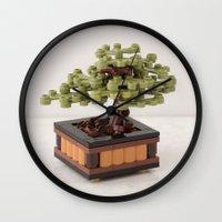 zen Wall Clocks featuring Zen by powerpig