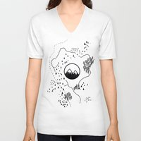 middle earth V-neck T-shirts featuring Middle Earth by Cécile Pellerin