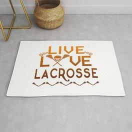 LIVE - LOVE - LACROSSE Rug