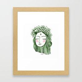 Miss Aster Framed Art Print