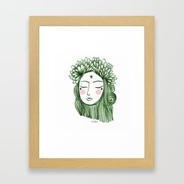Miss Aster Framed Art Print