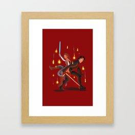 Rey & Kylo Framed Art Print