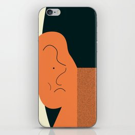 Angry talking makes the ear cranky iPhone Skin