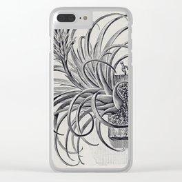 Botanical Air Plant Clear iPhone Case