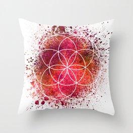 Seed of Life Sacred Geometry Throw Pillow