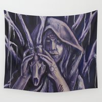 witch Wall Tapestries featuring witch by Mrtn Ljmn