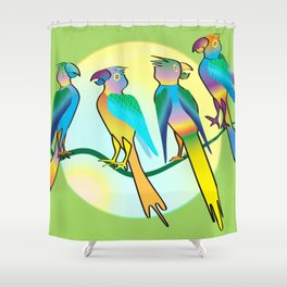 All a Twitter Shower Curtain