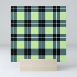 Green plaid Mini Art Print