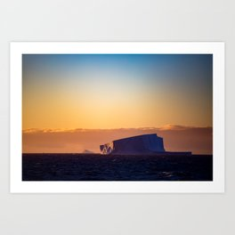 Sunset Iceberg Art Print