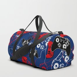 Video Game Red White & Blue 1 Duffle Bag