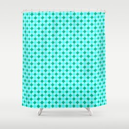 Gingham - Ocean Shower Curtain
