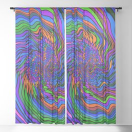 Electric Wave Sheer Curtain