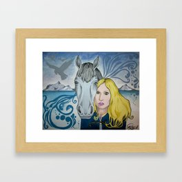 Horse And Me (2013) Framed Art Print