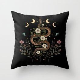 Serpent Spell Throw Pillow