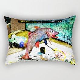 Pollock at Work Rectangular Pillow