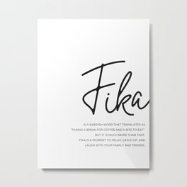 Fika Love Definition Metal Print
