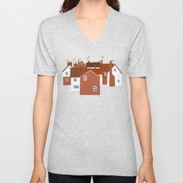 Houses in Kent and Sussex Unisex V-Neck