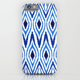 Ikat Blue iPhone Case