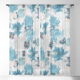Baby Blues Sheer Curtain