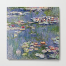 Water Lilies by Claude Monet, 1916 Metal Print