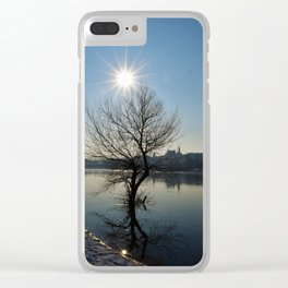 Sun over Vistula Clear iPhone Case