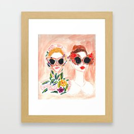 Dolce and Gabbana Girls Framed Art Print
