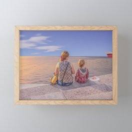 Waiting. Mother and child Framed Mini Art Print