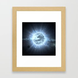 Super Giant Star Framed Art Print