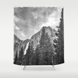 Yosemite Falls Before a Storm Shower Curtain