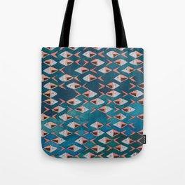 School of Fish Pattern Tote Bag