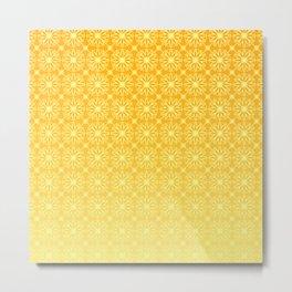 Gold Gradient Citrus Pattern Metal Print