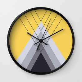 Iglu Primrose Yellow Wall Clock