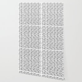 Sombrero Vueltiao in Black and White Ink Pattern Wallpaper