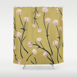 Dandelions on Ochre Shower Curtain