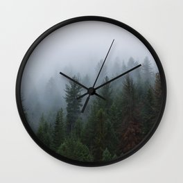 Into the Deep, Foggy, Forest Wall Clock