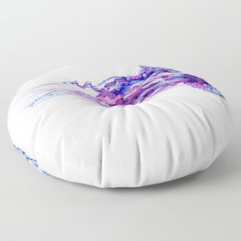 Jellyfish, purple blue sea world design elegant Floor Pillow