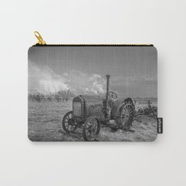 Rustic Tractor - Old Tractor in Black and White Carry-All Pouch