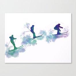 jumping skier Canvas Print