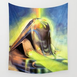 SF streamliner train abstract painting Wall Tapestry