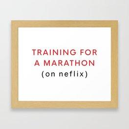 Netflix Marathon Framed Art Print