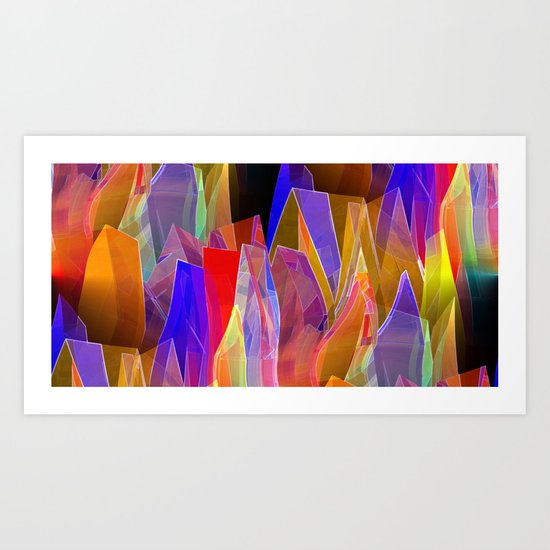 towel full of colors -7- Art Print
