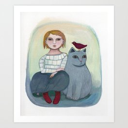 Emi's Cat Art Print