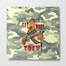 Eat More Tofu Metal Print