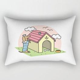 Sailor Dachshund Rectangular Pillow