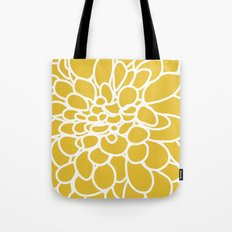Mustard Yellow Modern Dahlia Flower Tote Bag