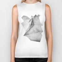 triangle Biker Tanks featuring triangle by Katekima
