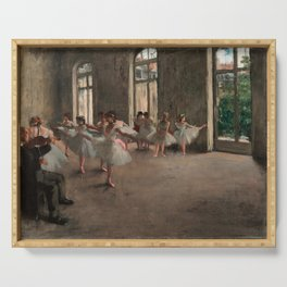 Classical Masterpiece 'The Ballet Rehearsal' by Edgar Degas Serving Tray