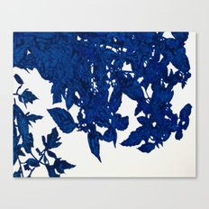 Royal Blue Leaves Canvas Print